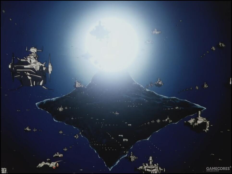 """由于阅舰式这种愚蠢的安排。地球联邦军宇宙舰队的舰只在原所罗门要塞现地球联邦军""""金米岛""""基地周边宇域高密度集中,使得Mk82这种战术核武器取得的战果甚至达到了战略级核武器都未能达到的战果。三分之二参阅舰队损失,占地球联邦军宇宙舰队总兵力的相当数量。"""