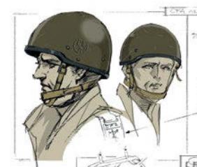 非洲佣兵团士兵的头盔设定