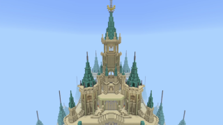 又是别人的世界,带你在《我的世界》里游览宏伟的海拉尔城堡