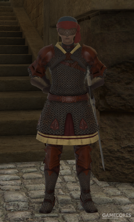 铜刃团的士兵穿着黄铜颜色的铠甲,持有佣兵风格的弯刀和圆盾