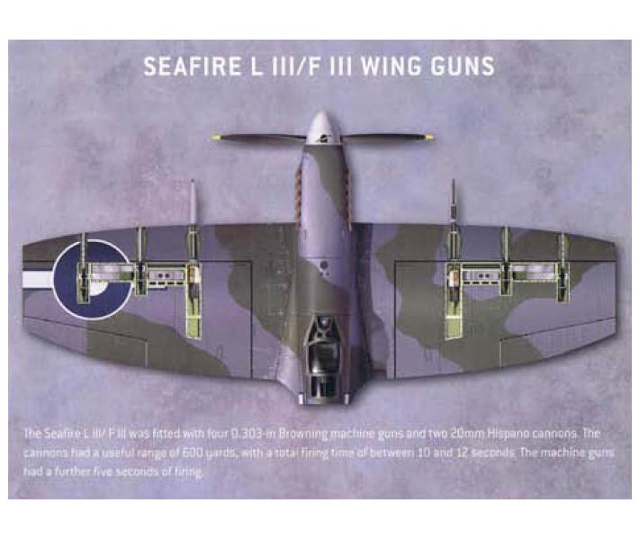 """中期的""""喷火""""以及这架舰载版的""""海火""""使用的是机枪混搭机炮的方法,后期也统一改成了机炮"""