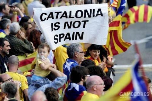 王位继承战争的影响至今还在延续,加泰罗尼亚独立游行,2013年西班牙