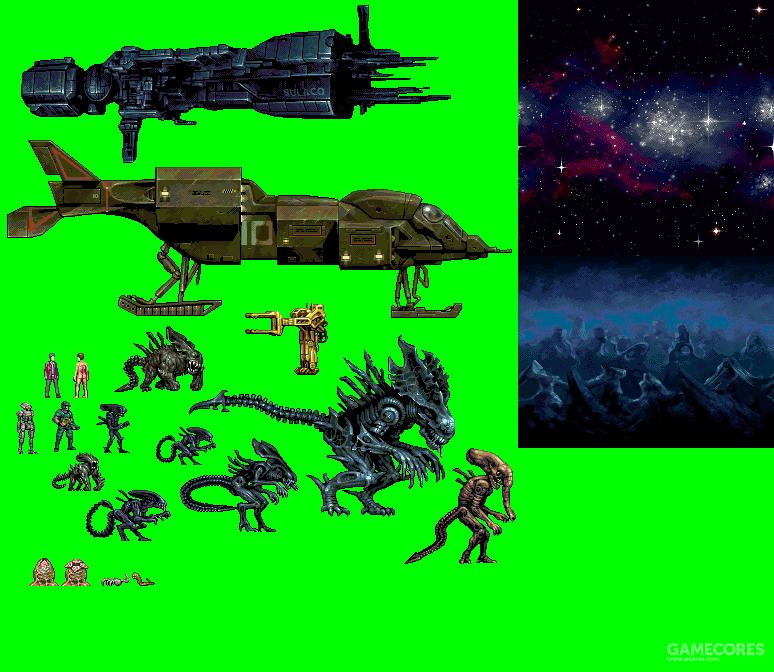 游戏素材,除了沿用《ACM》的部分异形设定外原创了全新亚种(非正史)