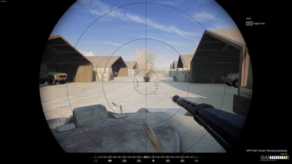 BTR-80 炮手视角