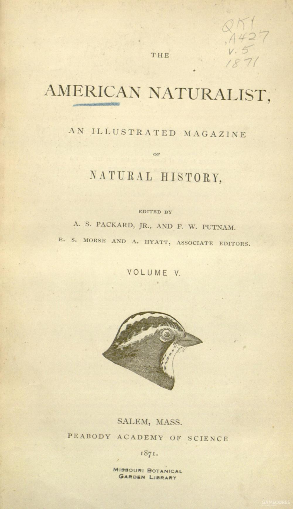 《美国博物学家》(The American Naturalist)是每月发行的科学期刊,创刊于1867年。科普对该杂志的版权很感兴趣,1878年他买下了该杂志一半的版权,并将该杂志办公地转往费城,和阿尔菲斯·S·帕卡德(Alpheus S. Packard)教授合作办刊。科普从1887年开始担任主编直到去世。