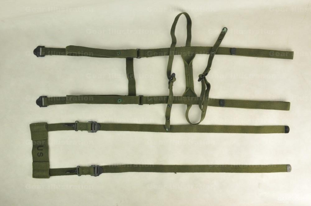 睡袋捆具(上)和屁股包提升带(下)
