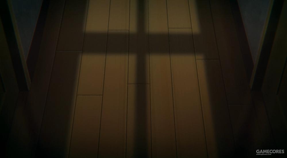 硝子自杀时的投影及十字窗框