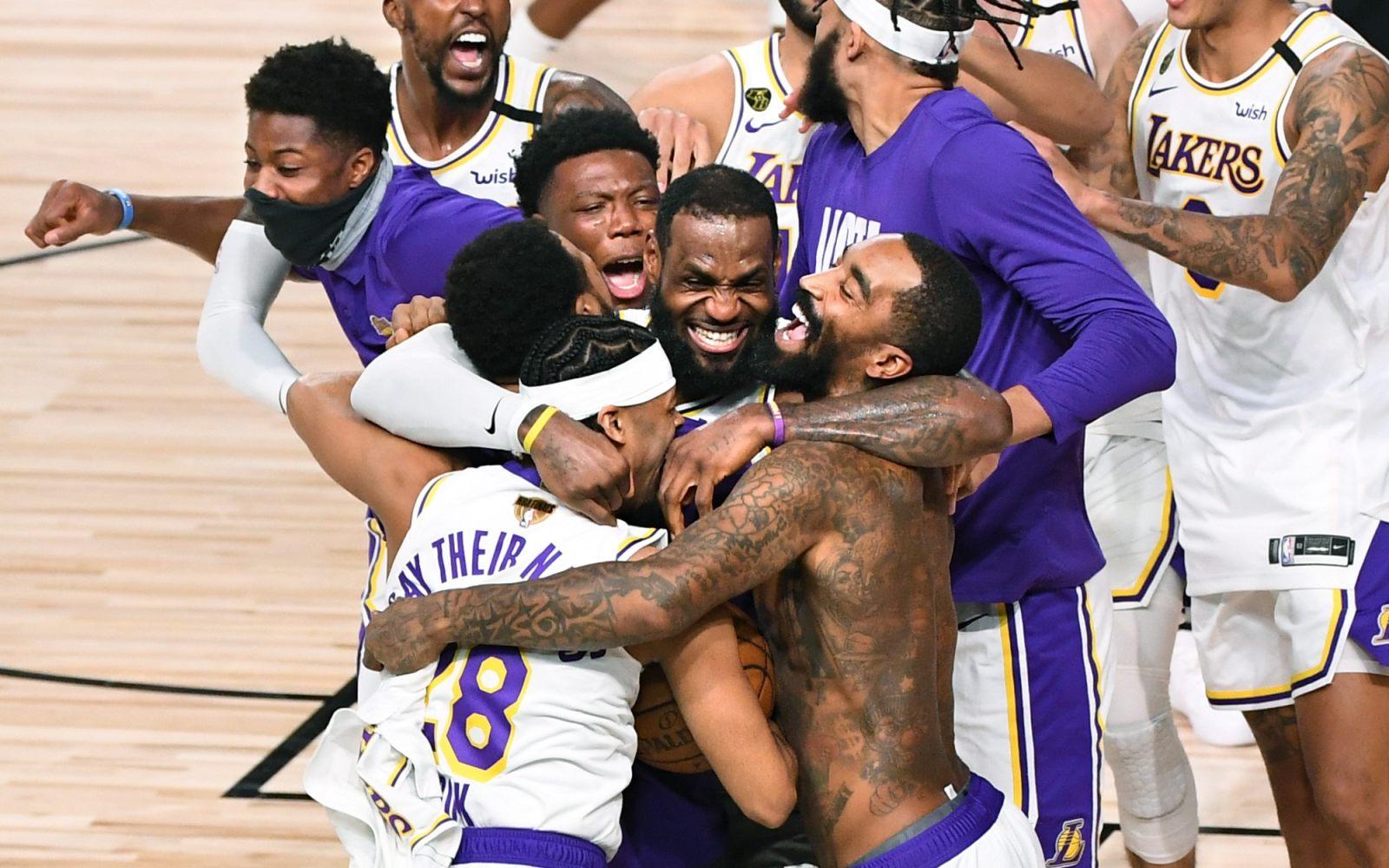 洛杉矶湖人夺得2019-2020赛季NBA总冠军