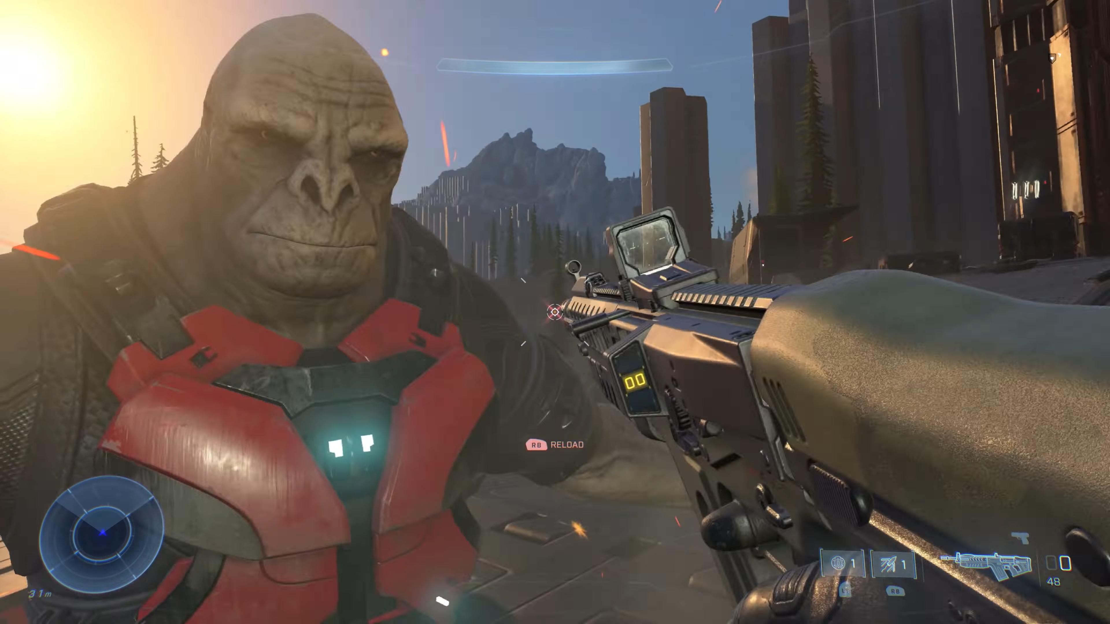 E3 2020 光环无限战役演示中的 Craig