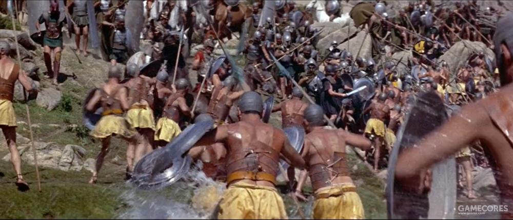 战斗中的雅典和马其顿步兵