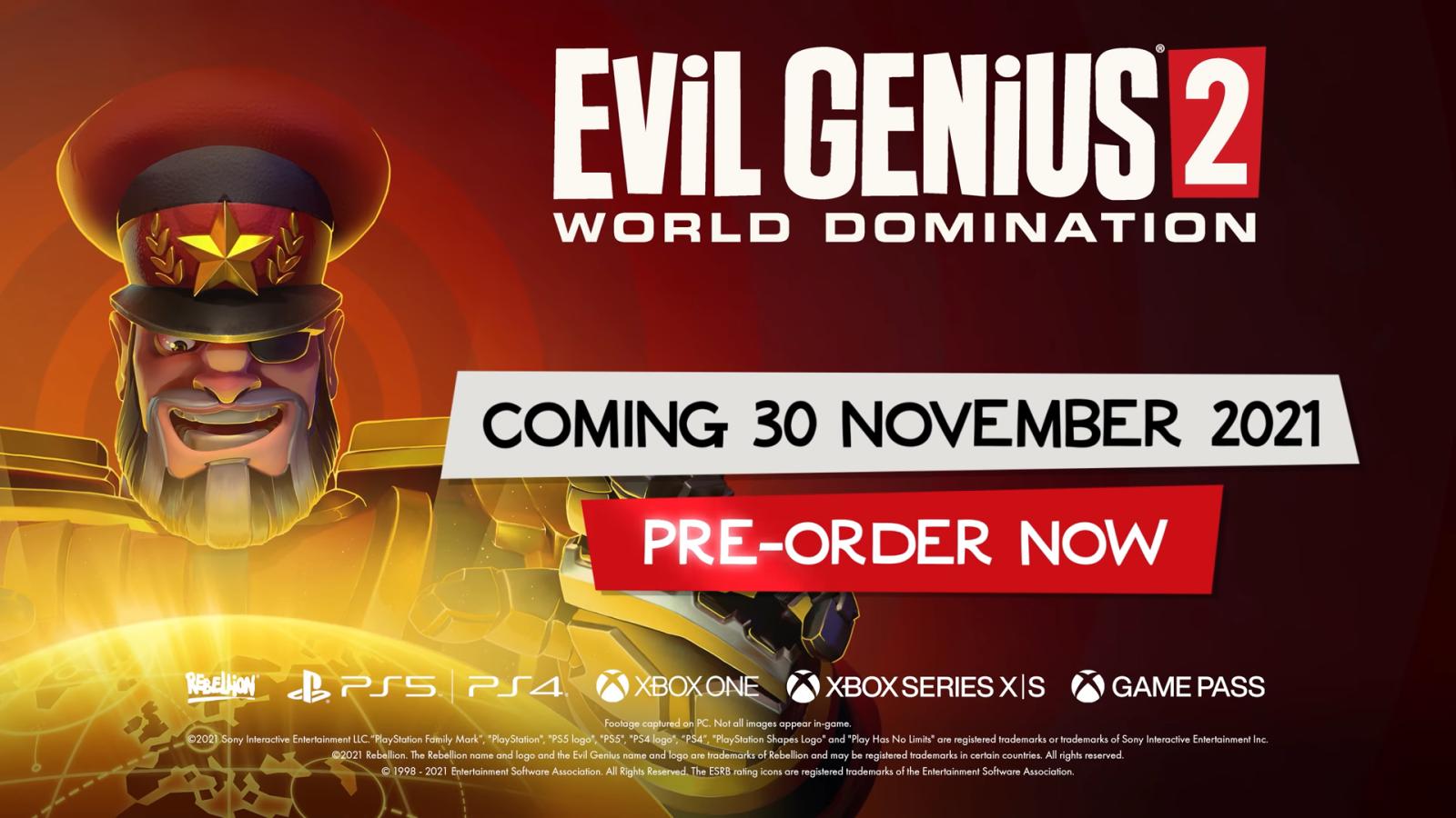 《邪恶天才 2》将于11月30日推出主机版,并登陆XGP畅玩阵容