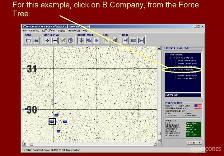 以此为例,从部队编制面板中点击B连。