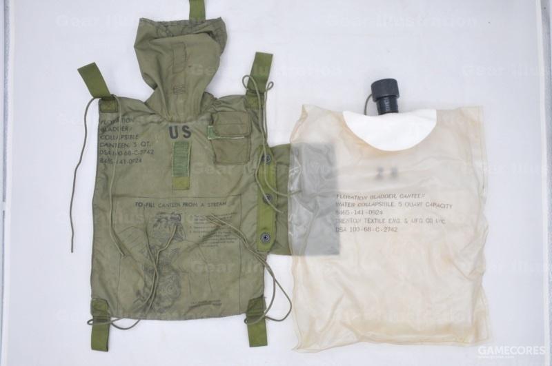 越战时期的五夸脱水袋,外皮和内胆
