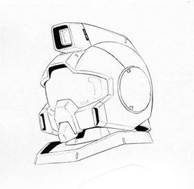 RGM-79[G]的头部结构基于RGM-79[G]进行简化。头部双眼传感器修改为了类似RX-77式的带护目镜的阵列式结构。性能显得多余的V型全周波通讯天线被更简单的天线系统替代。除此之外基本维持了RX系列的传感器规格。