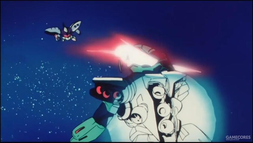 PMX三机小队围攻AMX-004时瞬间被Funnel重创PMX-001和PMX-002两机,只有PMX-003凭借本身的重装甲防护以及希洛克本人的强横能力成功回避了攻击。