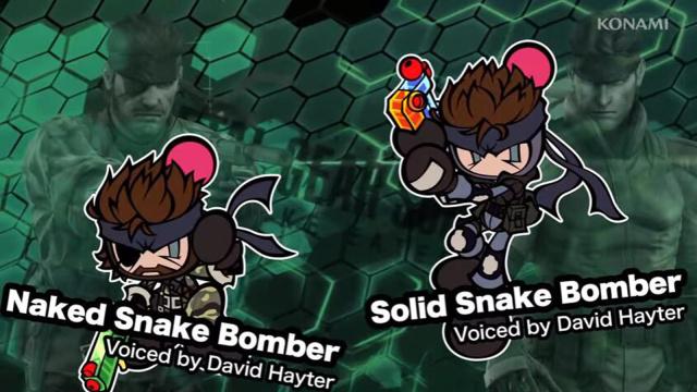 《超级炸弹人R》今日推送新角色,《潜龙谍影》的固蛇和裸蛇参战!