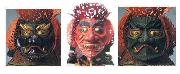 三宝荒神兜 细节部分:如來荒神、麁乱荒神、忿怒荒神