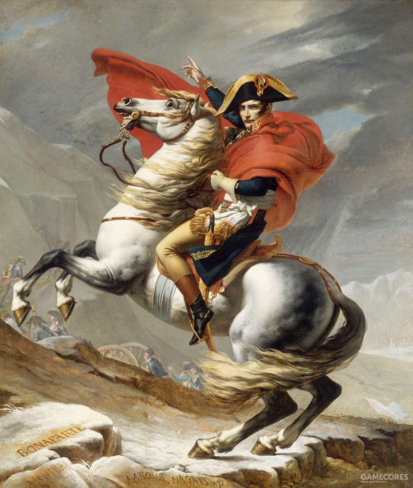《拿破仑·波拿巴穿越大圣伯纳德山口》