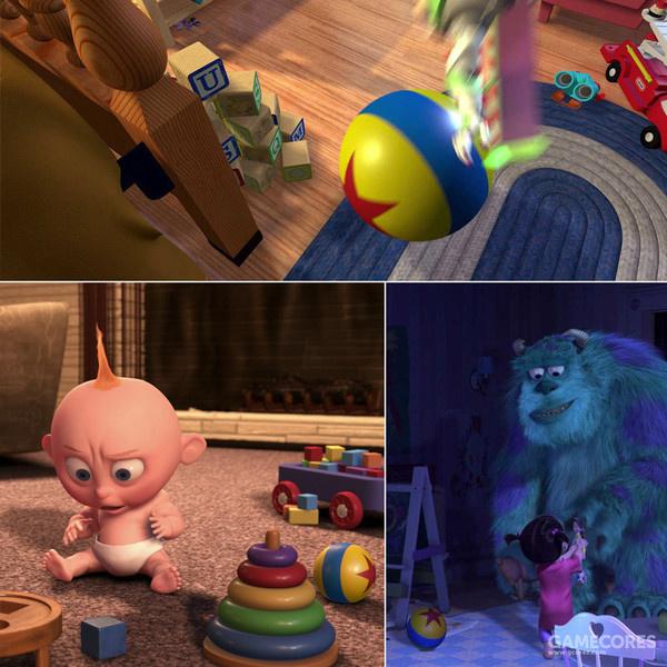 在多部电影中均有出现的彩球