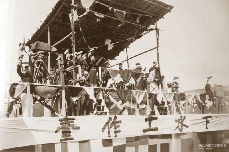 1935年9月28日举行下水仪式,陈绍宽在列,全体高呼万岁