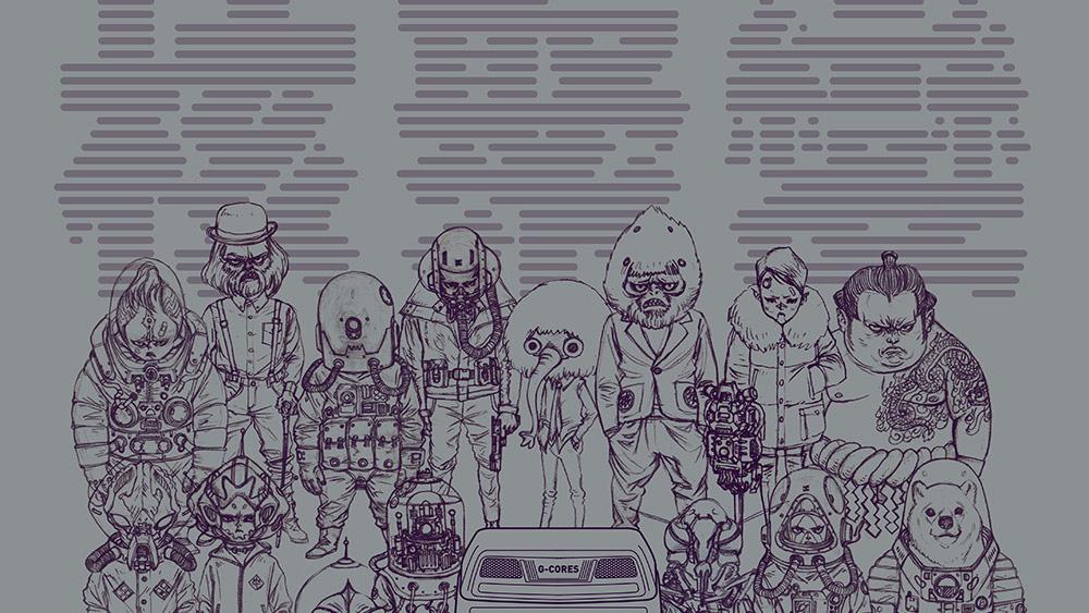 我們和核聚變 Lite 的主視覺設計師聊了聊,為何這幅海報的賽博朋克味兒這麼正