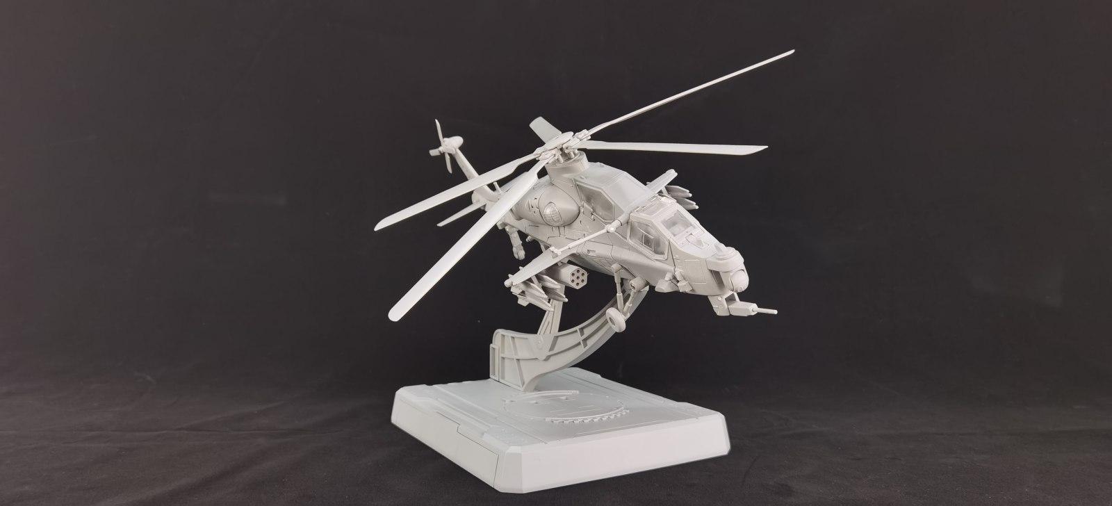 神机工业直升机可变机甲暗鸮灰模展出!预计今年Q3发售