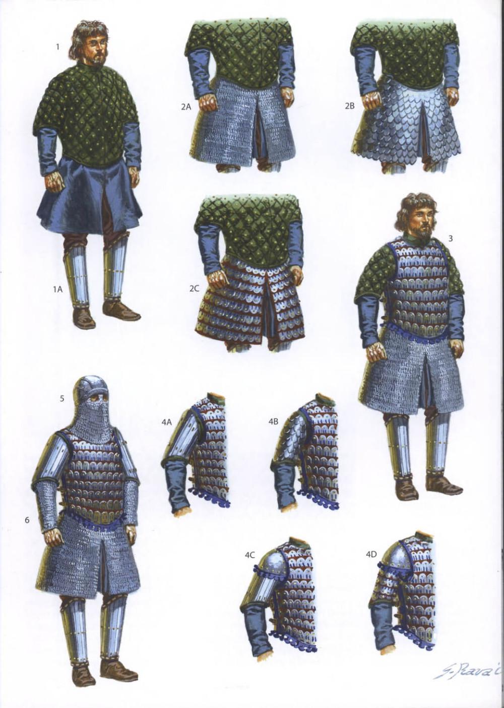 使用锁甲-扎甲装备的拜占庭骑兵