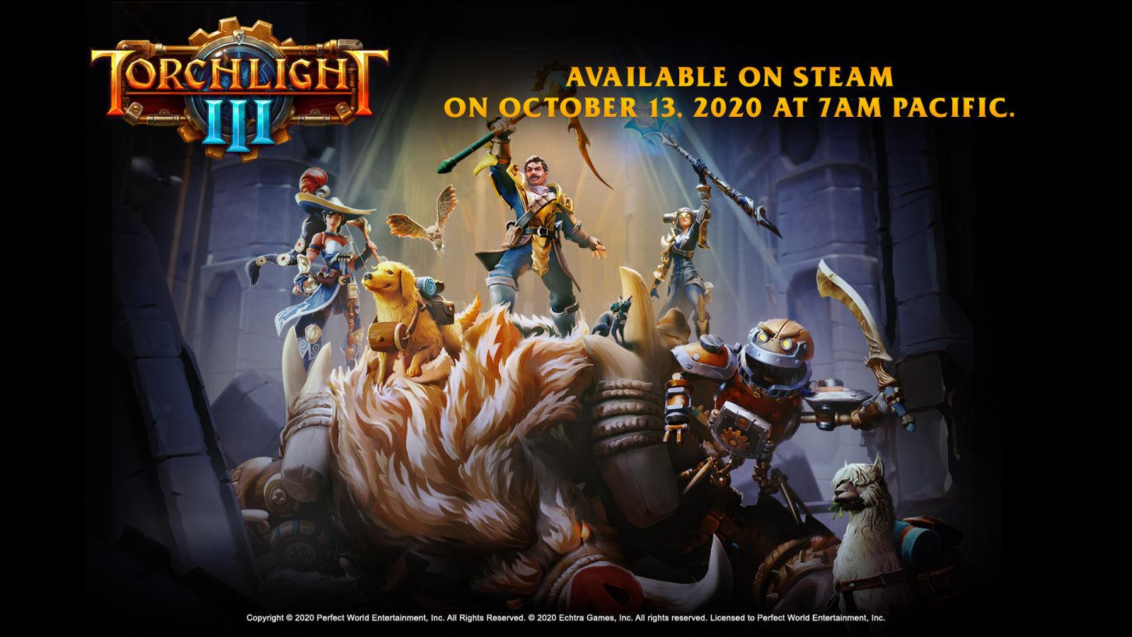 《火炬之光3》将于10月13日推出正式版,登陆Xbox One、PS4与PC平台