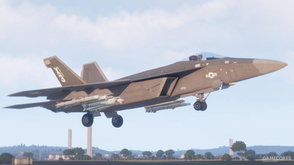 挂满武器的F/A-181正在起飞