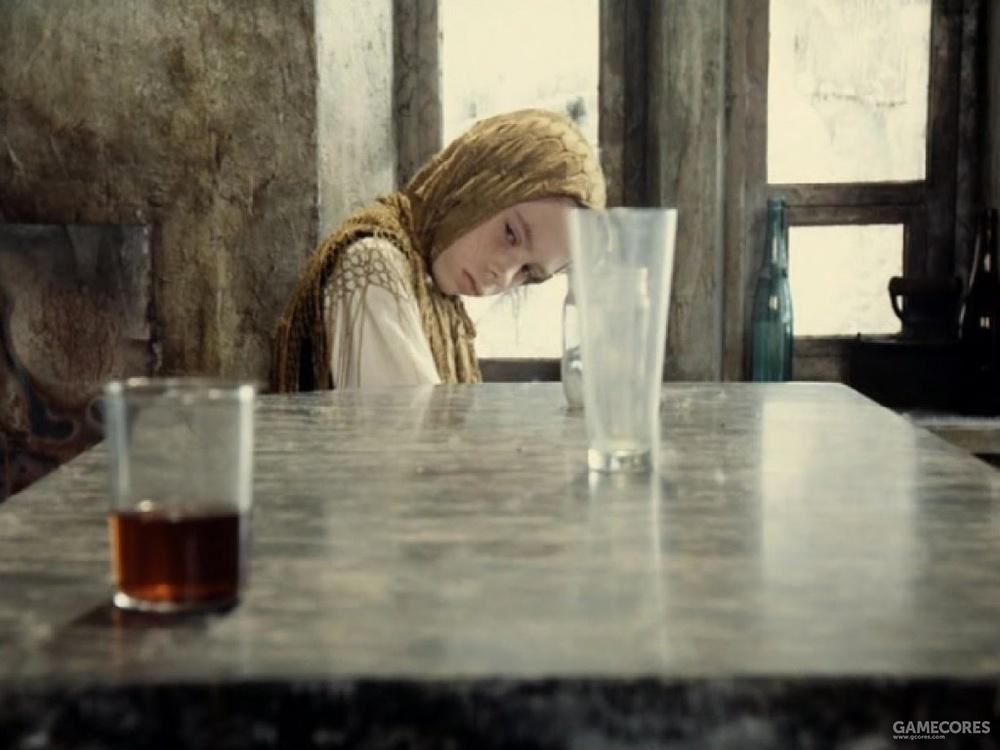 和他那有超能力的女儿。镜片结束于女孩用念力把杯子推下桌子。