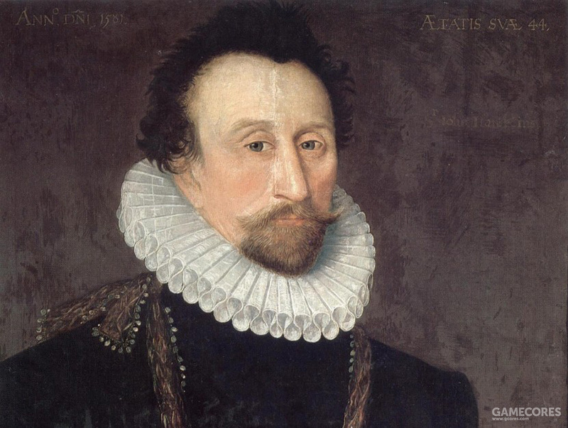 Portrait of Admiral Sir John Hawkins, 1581 (局部)