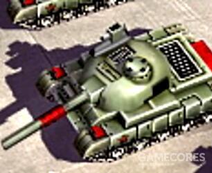 """战斗大师坦克,汉化一般叫""""战神坦克"""",59魔改主战坦克,五个聚一起可以激发士气提高输出,为了游戏平衡不能和步兵混编,高士气下是三族最强主战坦克"""