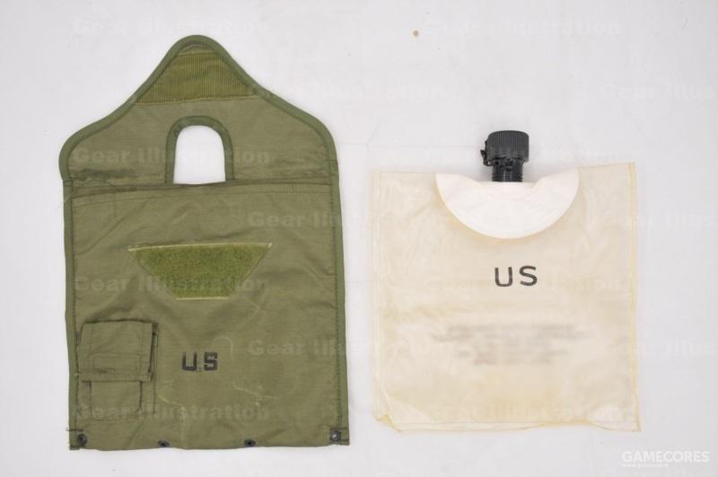 越战时期的两夸脱水袋,外皮和内胆