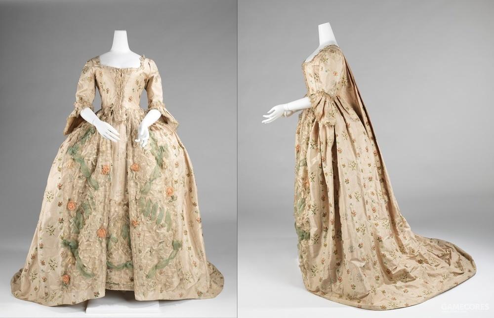 Robe à la Française, 1770–75 (MET) 非前开款的法式礼服