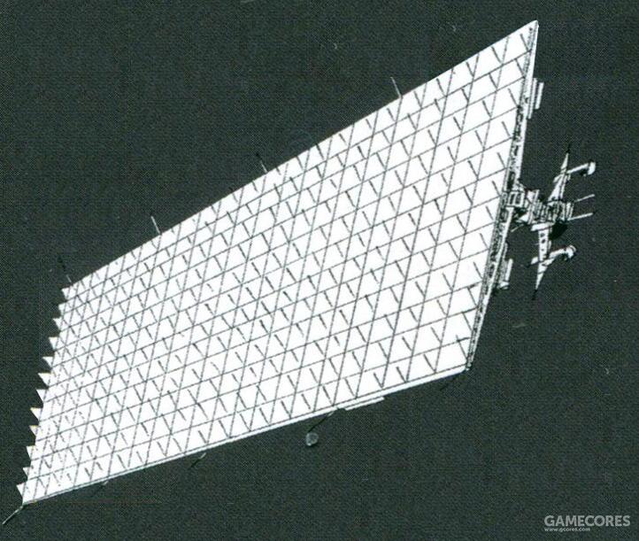 单个发电卫星大小便达到了千米级。其产生的电力以微波等形式传输给用电方。