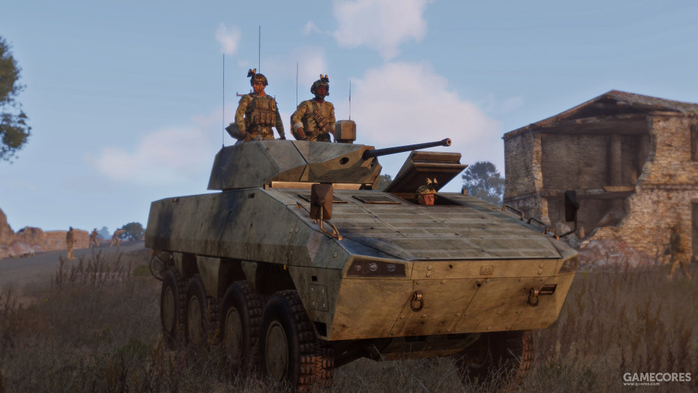 """""""钢铁天马""""战役中的AMV-7"""