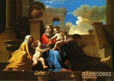 《台阶上的圣母》