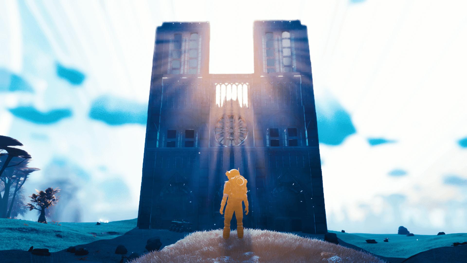 为了表达惋惜之情,�家在《无人深空》中�建了巴�圣�院�塔