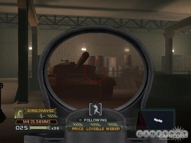 当时只有主机版的《彩虹六号3》才有机瞄模式