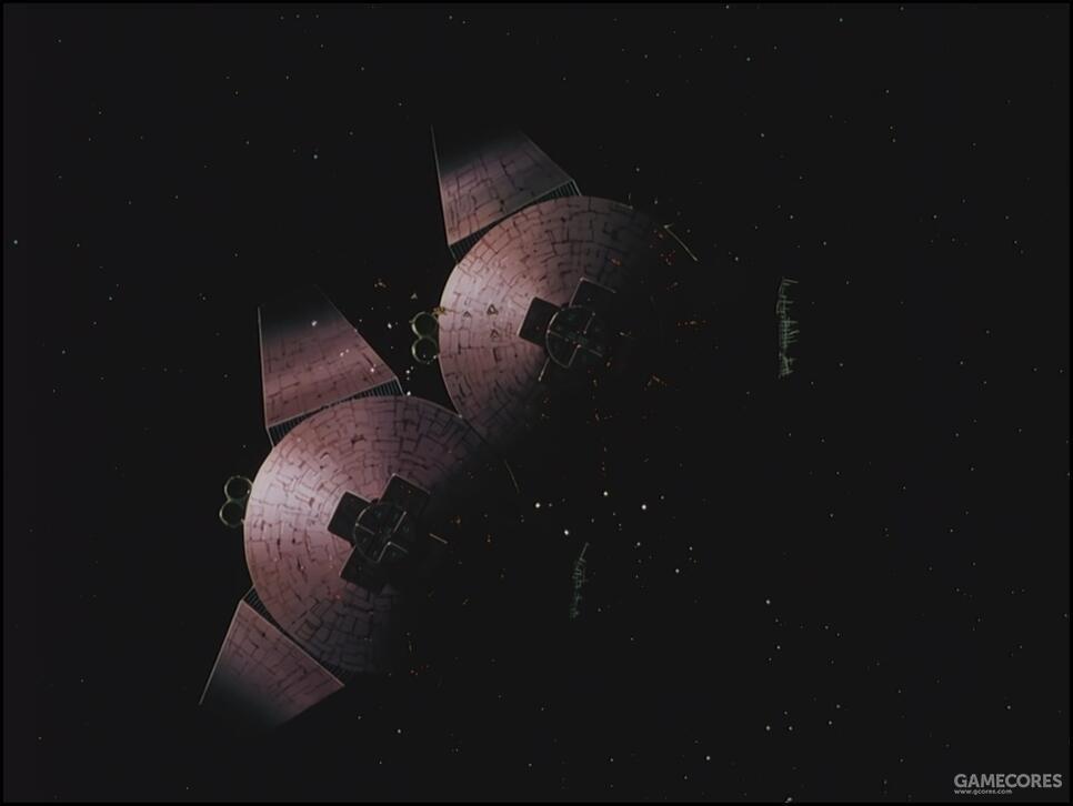 以此时吉翁公国军残党的规模,显然没有能力从地球联邦军手上夺取有人居住和守卫的殖民卫星。两座殖民卫星都是从在一年战争中被摧毁的各个SIDE回收,预备进行修复的报废卫星。因此是由民间性质的殖民地公社进行运输修复,且未配备什么像样的护卫兵力。合作的西玛舰队并未受到什么阻碍便夺取了运输中的两座殖民地卫星。并通过爆破反射镜使两座殖民卫星相撞的形式,让Island Ease坠向月球。