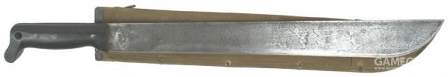 美国M1942式大砍刀,末端用来固定腕带,防止刀掉落