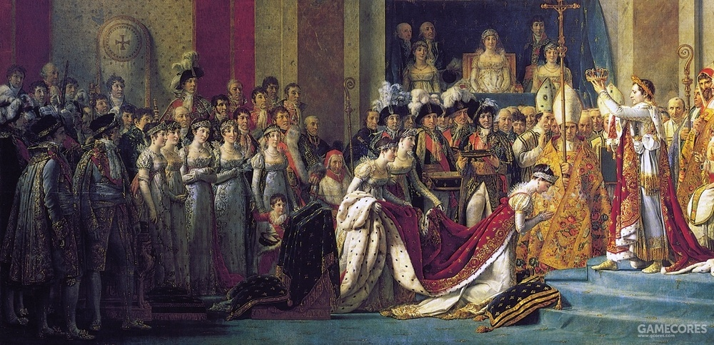 Le Sacre de Napoléon by Jacques-Louis David (1805-17) (局部)