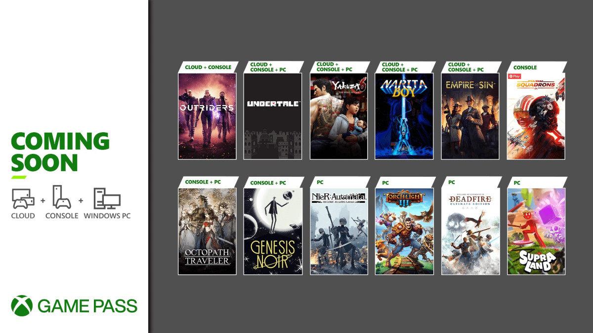 《八方旅人》、《星球大战 战机中队》、《传说之下》等游戏将在3月陆续加入XGPU
