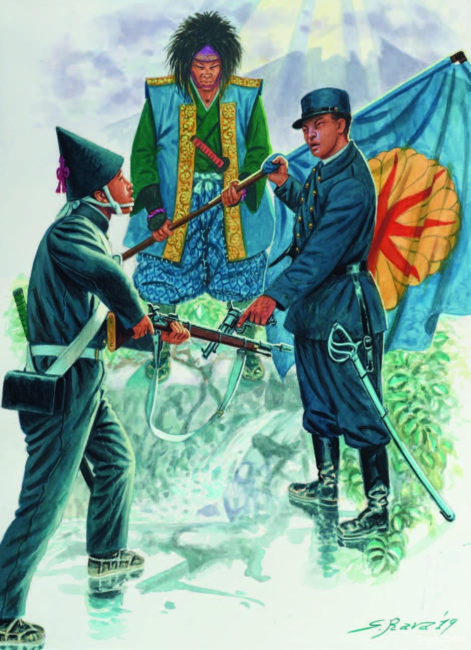戊辰战争期间的武士和帝国步兵