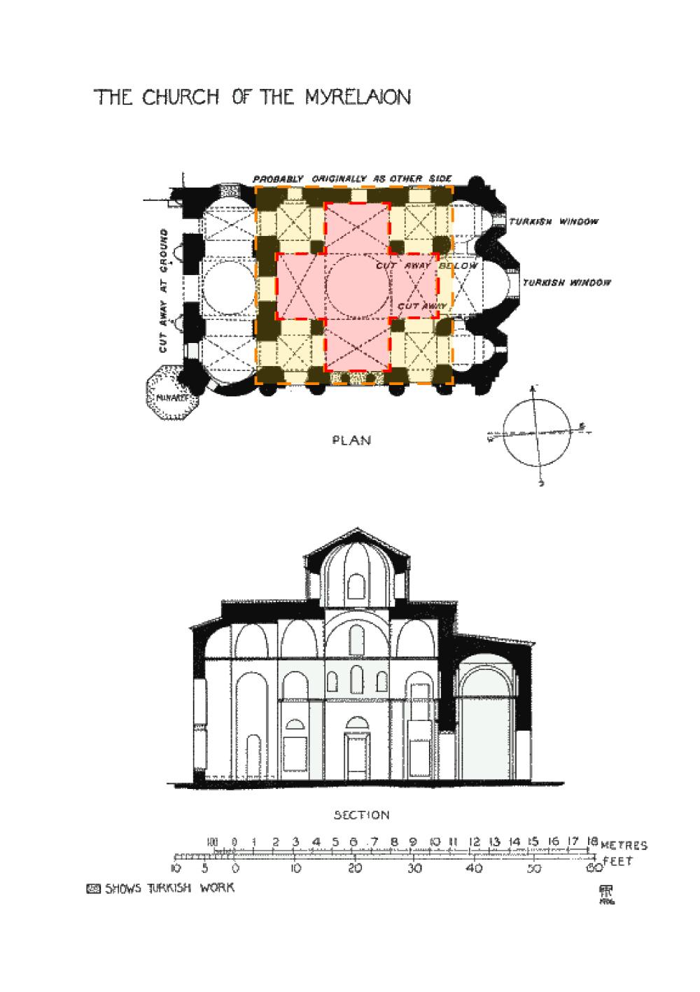 方形内十字平面,Church of the Myrelaion, 10世纪