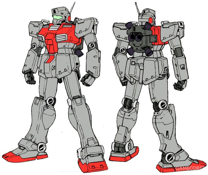 最初出现在《Gundam Sentinel 0079》中的吉姆后期型造型。其背包外形能看到类似RGM-79GS的设计。