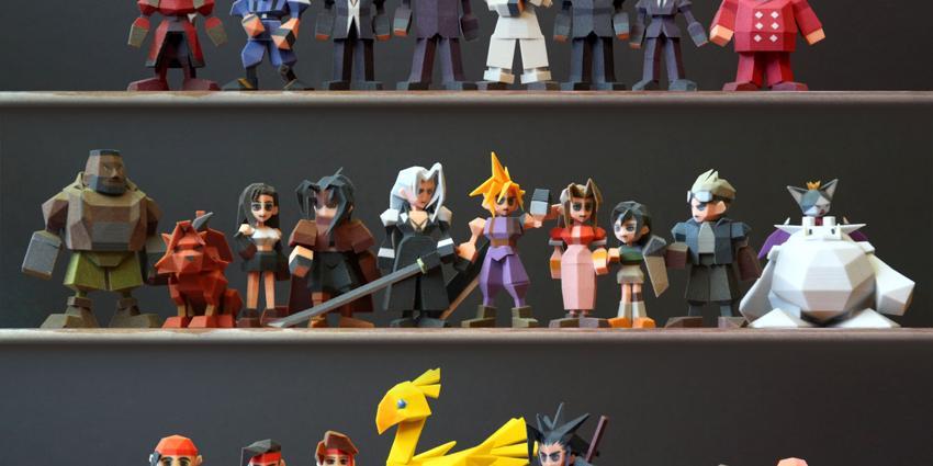 3D打印FF7人物!
