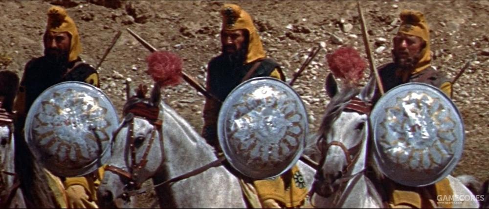 携带盾牌的波斯骑兵