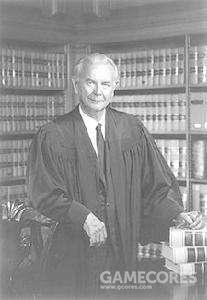 小威廉·约瑟夫·布伦南(1906年4月25日-1997年7月24日),美国最高法院大法官。1956年获艾森豪威尔提名任此职。后来成为沃伦法院的自由派成员而广为人知。他以直言不讳公开自己的自由主义思想而闻名,包括明确反对死刑,允许女性堕胎。1990年7月,因轻微中风而辞去大法官之职,老布什总统提名戴维·苏特继任。1993年11月30日,被克林顿总统授予总统自由勋章。1997年7月24日去世。