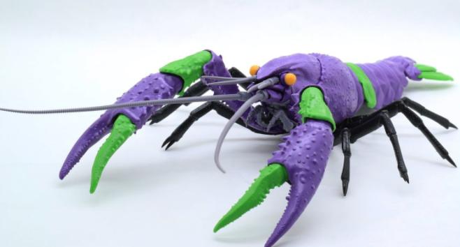 富士美推出《EVA》初号机&二号机配色小龙虾拼装模型